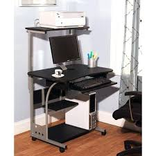 office computer table small compact mobile portable computer tower with shelf desk with whee great deals