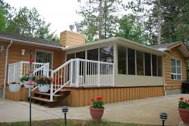 better living patio rooms. 3 Season Sunroom With White Railing Better Living Patio Rooms