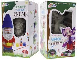 paint your own garden gnome flower fairy 20cm figure childrens art craft kit