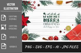 Merry Christmas Vector Graphic By Artnovi Creative Fabrica