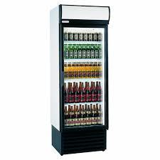 staycold hd690 upright glass door display fridge white hinged door