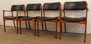 set four erik buch for o d mobler teak dining chairs at 1stdibs design teak wood