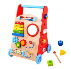 tookytoy creative push and pull learning playing wooden baby activity walker loading zoom