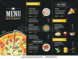 Restaurant Menu Design Templates Restaurant Menu Card Template Vector Cafe Flat Design Templates Psd