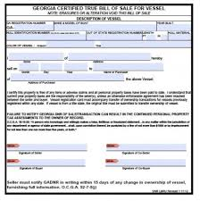 Free Bill Of Sale Beauteous Free Georgia Boat Bill Of Sale Form PDF Word Doc