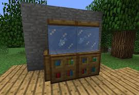 how to make a couch in minecraft. Beautiful Make Here Is A Fish Tank With Real Fish First I Placed On Top Of The  Bookshelves And Then Ice Blocks The Effect Cool One With How To Make A Couch In Minecraft