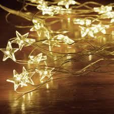 Copper Star Fairy Lights Amazon Com Kobwa Star String Lights 16ft 50 Leds Star