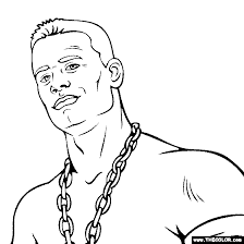 Small Picture John Cena Coloring Page John Cena Coloring