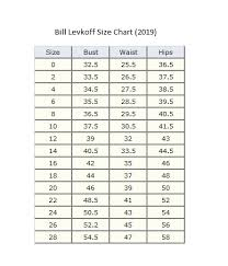 Bill Levkoff Size Chart Bill Levkoff Size Chart Gallery Of Chart 2019