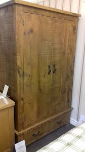 Clearance Rustic Pine Double Wardrobe ...