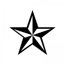 立体的な星のシルエット 無料のaipng白黒シルエットイラスト