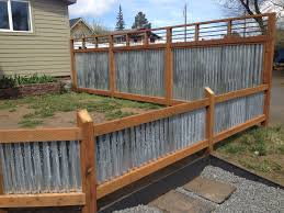corrugated metal privacy fence. Beautiful Fence Nice Design Corrugated Metal And Wood Fence Framed  Fences Ideas Throughout Privacy E