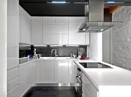 white modern kitchen ideas. Picture Of White Modern Kitchen Cabinets With Black Back Splash And Floor Ideas S