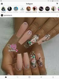 Peach Nail Designs Pinterest Pinterest Anyra_h Peach Acrylic Nails Acrylic Nails