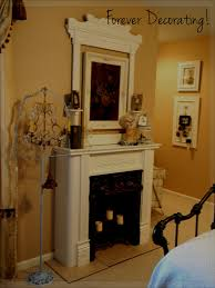 Fancy Fireplace Interior Design Fancy White Faux Fireplace With White Mirror Also