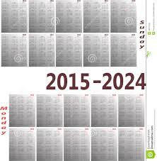 Basic Calendars Calendar 2015 2024 Stock Vector Illustration Of Basic 43077945