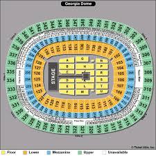 Georgia Dome Seating Chart Falcons