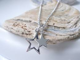 star necklace sterling silver star pendant necklace silver necklace for women dainty necklace everyday necklace friend gift handmade