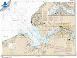Amazon Com Noaa Chart 14884 St Marys River Head Of