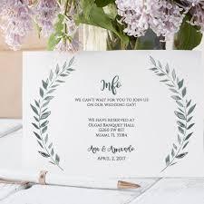 Wedding Enclosure Card Template Wedding Enclosure Card Template Rustic Printable Information Card