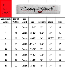 It Size Chart Size Charts Boo Yah Custom Clothing