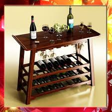 wine rack table. Wine Rack Table Bottles Cups And Grapes 3D Model T