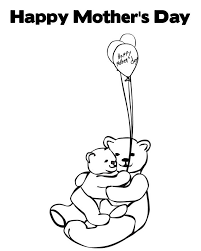 Animals Coloring Pages Happy Mothers Day