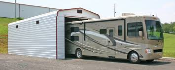 rv fully enclosed carport motorhome metal garage