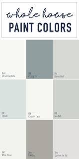 Magnolia Paint Colour Chart Paint Colors For A Whole Home Color Palette Calming