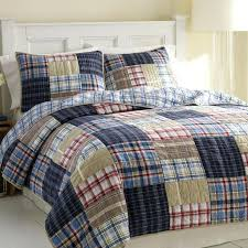 Plaid Check Bedding Plaid Bed Sets Comforters Quilts Bedspreads ... & ... Plaid Twin Bedspread The Nautica Chatham Quilt Bedding Set Is A  Colorful Quilted Patchwork Plaid Sure ... Adamdwight.com