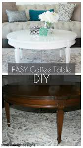simple diy round coffee table makeover