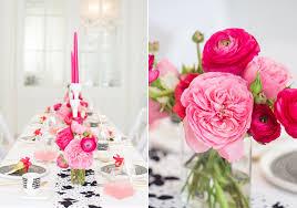 modern pink black white party ideas