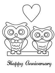 happy anniversary coloring pages. Brilliant Happy Happy Anniversary On Coloring Pages P