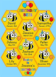 Bee Themed Birthday Chart Celebrate Your Students Birthdays With This Fun Bees And