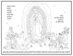 Our Lady Of Guadalupe Coloring Page By Julie Luckey Tpt