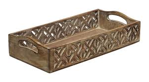 Handmade Bathroom Accessories Bulk Buy Wood And Faux Leather Decorative Tray With Handles