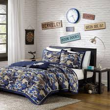 accent and occasional furniture josh 3 piece twin bedding set blue camo