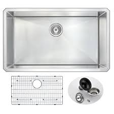 anzzi vanguard series undermount stainless steel 32 in 0 hole single bowl kitchen sink