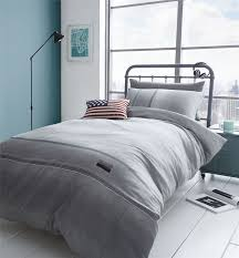 denim duvet quilt cover set reversible single double