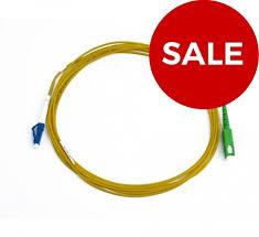 FIS <b>Simplex</b> 1.6mm <b>SM</b> SMF-28® Ultra Fiber <b>SC</b>/APC to <b>LC</b>/UPC 2m ...