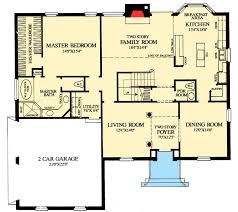 Beautiful Open Floor Plan Colonial Homes | Plan W32547WP: Colonial Home With First  Floor Master