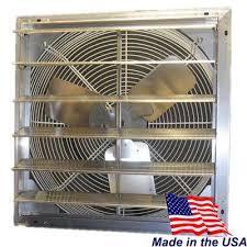 4600 cfm power shutter mounted variable sd exhaust fan