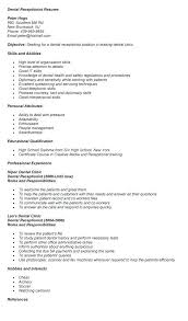 Dental Office Resume New Dental Receptionist Resume Dental Office Receptionist Resume
