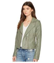 blank nyc green vegan leather moto jacket in matcha lyst view fullscreen