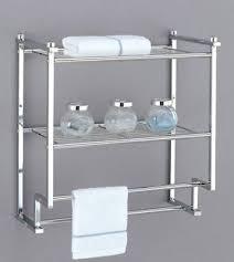 2 tier towel shelf organize rack chrome