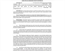 with material construction agreement 12 construction contract examples samples pdf doc