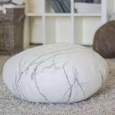 Felted Wool Stone Floor Cushion // Medium (Light Gray)