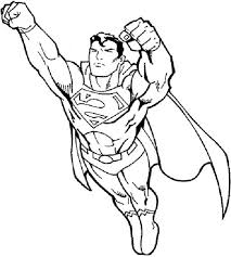 Free To Download Superman Coloring Page 15 In Free Coloring Book