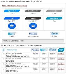 Pool Filter Size Chart Measure Spa Filter Pool Cartridge