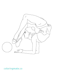 Gymnastics Coloring Pages Printable Gymnastics Coloring Pages